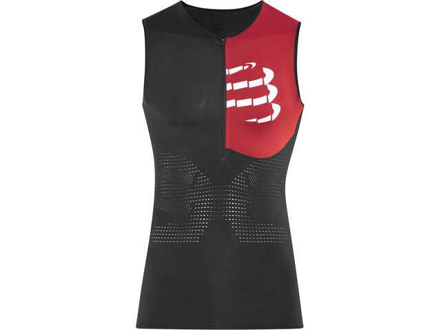 Compressport Triathlon Postural Aero Top Tri sin Mangas Hombre, black